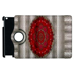 Strawberry  With Waffles And Fantasy Flowers In Harmony Apple Ipad 2 Flip 360 Case by pepitasart