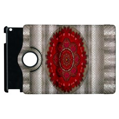 Strawberry  With Waffles And Fantasy Flowers In Harmony Apple Ipad 3/4 Flip 360 Case by pepitasart