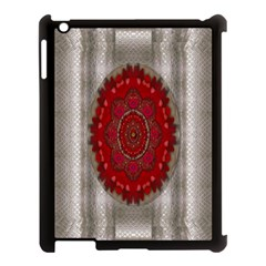 Strawberry  With Waffles And Fantasy Flowers In Harmony Apple Ipad 3/4 Case (black) by pepitasart