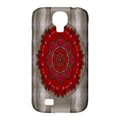 Strawberry  With Waffles And Fantasy Flowers In Harmony Samsung Galaxy S4 Classic Hardshell Case (pc+silicone) by pepitasart