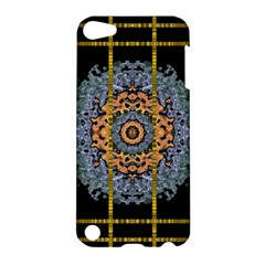 Blue Bloom Golden And Metal Apple Ipod Touch 5 Hardshell Case by pepitasart