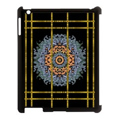 Blue Bloom Golden And Metal Apple Ipad 3/4 Case (black) by pepitasart