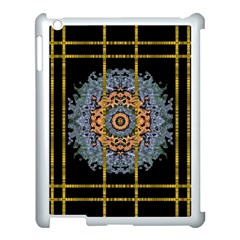 Blue Bloom Golden And Metal Apple Ipad 3/4 Case (white) by pepitasart