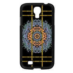 Blue Bloom Golden And Metal Samsung Galaxy S4 I9500/ I9505 Case (black) by pepitasart