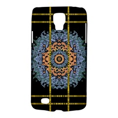 Blue Bloom Golden And Metal Galaxy S4 Active by pepitasart