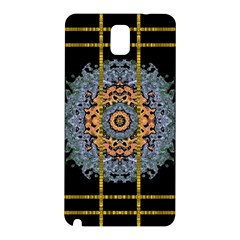 Blue Bloom Golden And Metal Samsung Galaxy Note 3 N9005 Hardshell Back Case by pepitasart