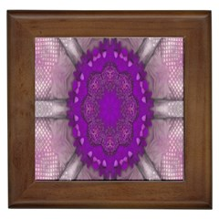 Fantasy Flowers In Harmony  In Lilac Framed Tiles by pepitasart