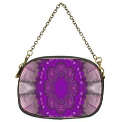 Fantasy Flowers In Harmony  In Lilac Chain Purses (two Sides)  by pepitasart