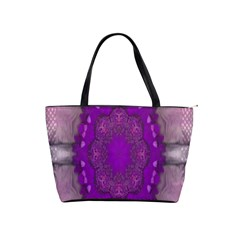 Fantasy Flowers In Harmony  In Lilac Shoulder Handbags by pepitasart