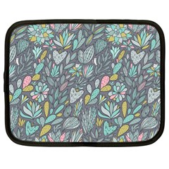 Cactus Pattern Green  Netbook Case (xl)  by Mishacat