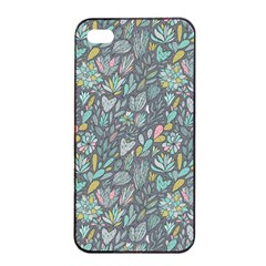 Cactus Pattern Green  Apple Iphone 4/4s Seamless Case (black) by Mishacat