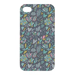 Cactus Pattern Green  Apple Iphone 4/4s Hardshell Case by Mishacat
