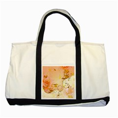 Wonderful Floral Design In Soft Colors Two Tone Tote Bag by FantasyWorld7