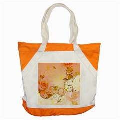 Wonderful Floral Design In Soft Colors Accent Tote Bag by FantasyWorld7