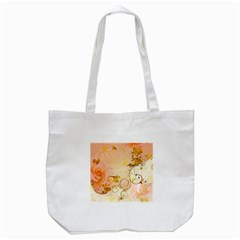 Wonderful Floral Design In Soft Colors Tote Bag (white) by FantasyWorld7