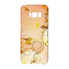 Wonderful Floral Design In Soft Colors Samsung Galaxy S8 Hardshell Case  by FantasyWorld7