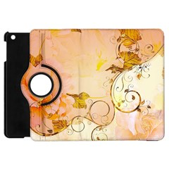 Wonderful Floral Design In Soft Colors Apple Ipad Mini Flip 360 Case by FantasyWorld7