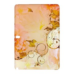 Wonderful Floral Design In Soft Colors Samsung Galaxy Tab Pro 12 2 Hardshell Case by FantasyWorld7