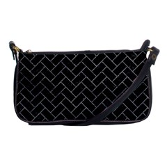 Brick2 Black Marble & Gray Leather Shoulder Clutch Bags by trendistuff