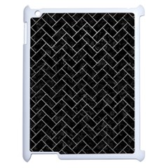 Brick2 Black Marble & Gray Leather Apple Ipad 2 Case (white) by trendistuff