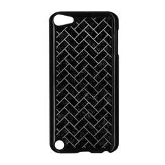 Brick2 Black Marble & Gray Leather Apple Ipod Touch 5 Case (black) by trendistuff