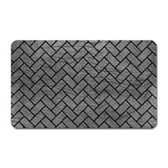 Brick2 Black Marble & Gray Leather (r) Magnet (rectangular) by trendistuff