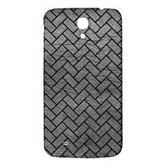 Brick2 Black Marble & Gray Leather (r) Samsung Galaxy Mega I9200 Hardshell Back Case by trendistuff