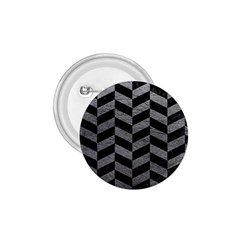 Chevron1 Black Marble & Gray Leather 1 75  Buttons by trendistuff