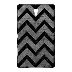 Chevron9 Black Marble & Gray Leather (r) Samsung Galaxy Tab S (8 4 ) Hardshell Case