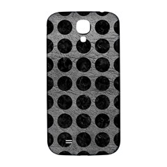 Circles1 Black Marble & Gray Leather (r) Samsung Galaxy S4 I9500/i9505  Hardshell Back Case