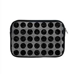 Circles1 Black Marble & Gray Leather (r) Apple Macbook Pro 15  Zipper Case by trendistuff