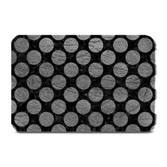 Circles2 Black Marble & Gray Leather Plate Mats by trendistuff