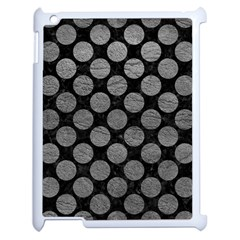 Circles2 Black Marble & Gray Leather Apple Ipad 2 Case (white) by trendistuff