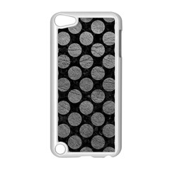 Circles2 Black Marble & Gray Leather Apple Ipod Touch 5 Case (white) by trendistuff