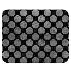 Circles2 Black Marble & Gray Leather Double Sided Flano Blanket (medium)  by trendistuff