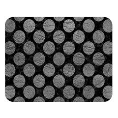 Circles2 Black Marble & Gray Leather Double Sided Flano Blanket (large)  by trendistuff