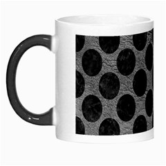 Circles2 Black Marble & Gray Leather (r) Morph Mugs by trendistuff