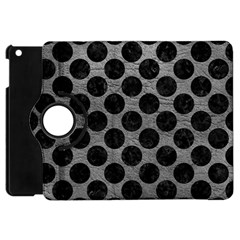 Circles2 Black Marble & Gray Leather (r) Apple Ipad Mini Flip 360 Case by trendistuff