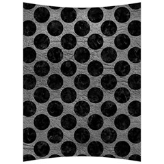 Circles2 Black Marble & Gray Leather (r) Back Support Cushion by trendistuff