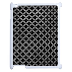 Circles3 Black Marble & Gray Leather Apple Ipad 2 Case (white) by trendistuff