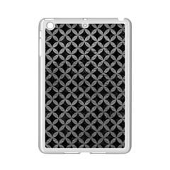Circles3 Black Marble & Gray Leather Ipad Mini 2 Enamel Coated Cases by trendistuff