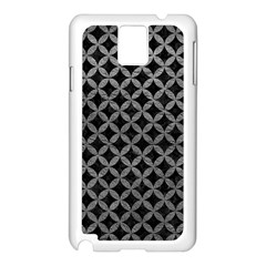 Circles3 Black Marble & Gray Leather Samsung Galaxy Note 3 N9005 Case (white) by trendistuff