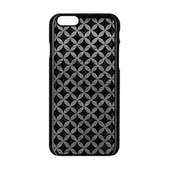 Circles3 Black Marble & Gray Leather Apple Iphone 6/6s Black Enamel Case by trendistuff