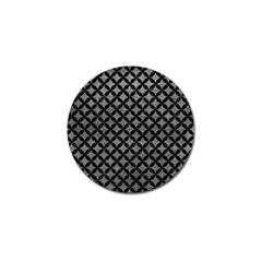 Circles3 Black Marble & Gray Leather (r) Golf Ball Marker (10 Pack) by trendistuff