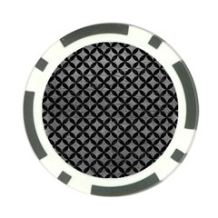Circles3 Black Marble & Gray Leather (r) Poker Chip Card Guard by trendistuff