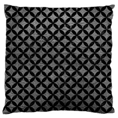 Circles3 Black Marble & Gray Leather (r) Large Cushion Case (two Sides) by trendistuff