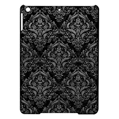 Damask1 Black Marble & Gray Leather Ipad Air Hardshell Cases by trendistuff