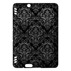 Damask1 Black Marble & Gray Leather Kindle Fire Hdx Hardshell Case