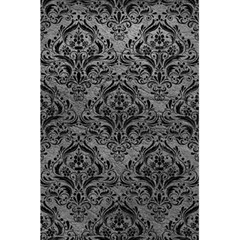 Damask1 Black Marble & Gray Leather (r) 5 5  X 8 5  Notebooks by trendistuff