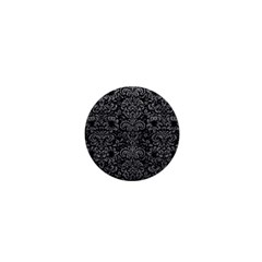 Damask2 Black Marble & Gray Leather 1  Mini Buttons by trendistuff